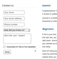 Contact Form module for Joomla